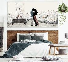 תמונה גדולה רומנטית לחדר שינה