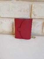 ארנק דמוי עור קטן אדום 4069