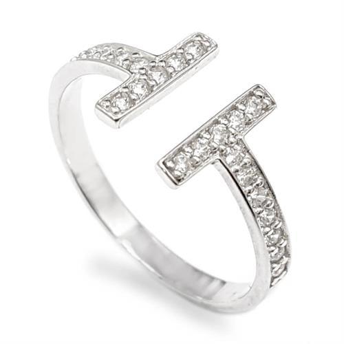 טבעת כסף עדינה משובצת אבני זרקון  RG5946 | תכשיטי כסף | טבעות כסף