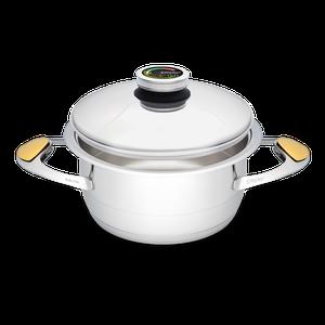 """סיר לבישול בריא בנפח 3 ליטר, קוטר 20 ס""""מ"""
