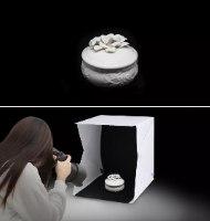קופסת צילום מקצועית עם תאורה 20×20