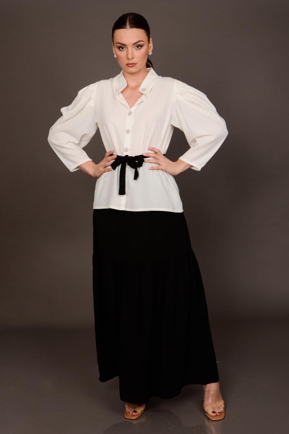 חצאית וולן ערב ללי שחור