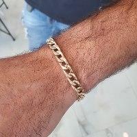 צמיד חוליות לגבר זהב איטלקי צהוב 14 קרט