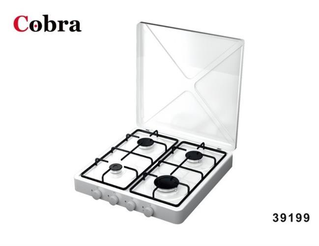 כיריים 4 להבות גז על השיש COBRA 39199 במלאי