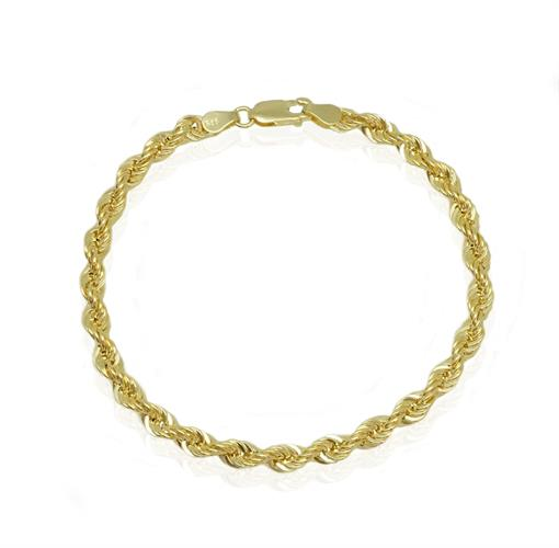 צמיד זהב חבל גדול 14 קראט  לאישה