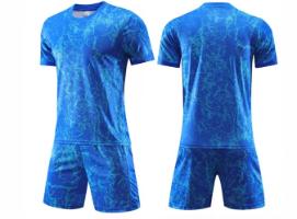 תלבושת כדורגל צבע כחול (לוגו+ספונסר שלכם)