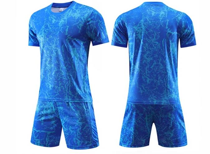 חליפת כדורגל צבע כחול (לוגו+ספונסר שלכם)
