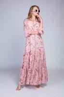 שמלת ערב שיפון פרחים מקסי
