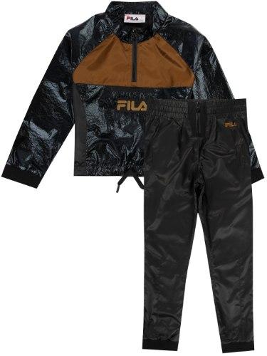 חליפת ניילון שחור/חום FILA - מידות 6-16