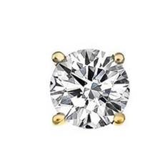 עגילי יהלומים צמודים 60 נקודות בזהב 14 קאראט