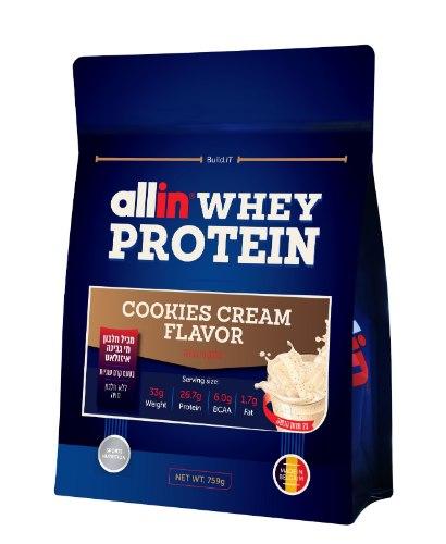 אבקת חלבון אול אין – Allin Whey Protein כשר 750 גרם פאוץ