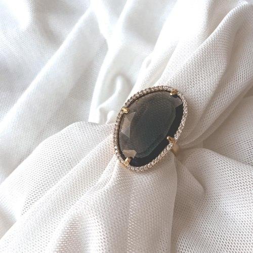 טבעת גלקטיק גדולה-  זהב חום