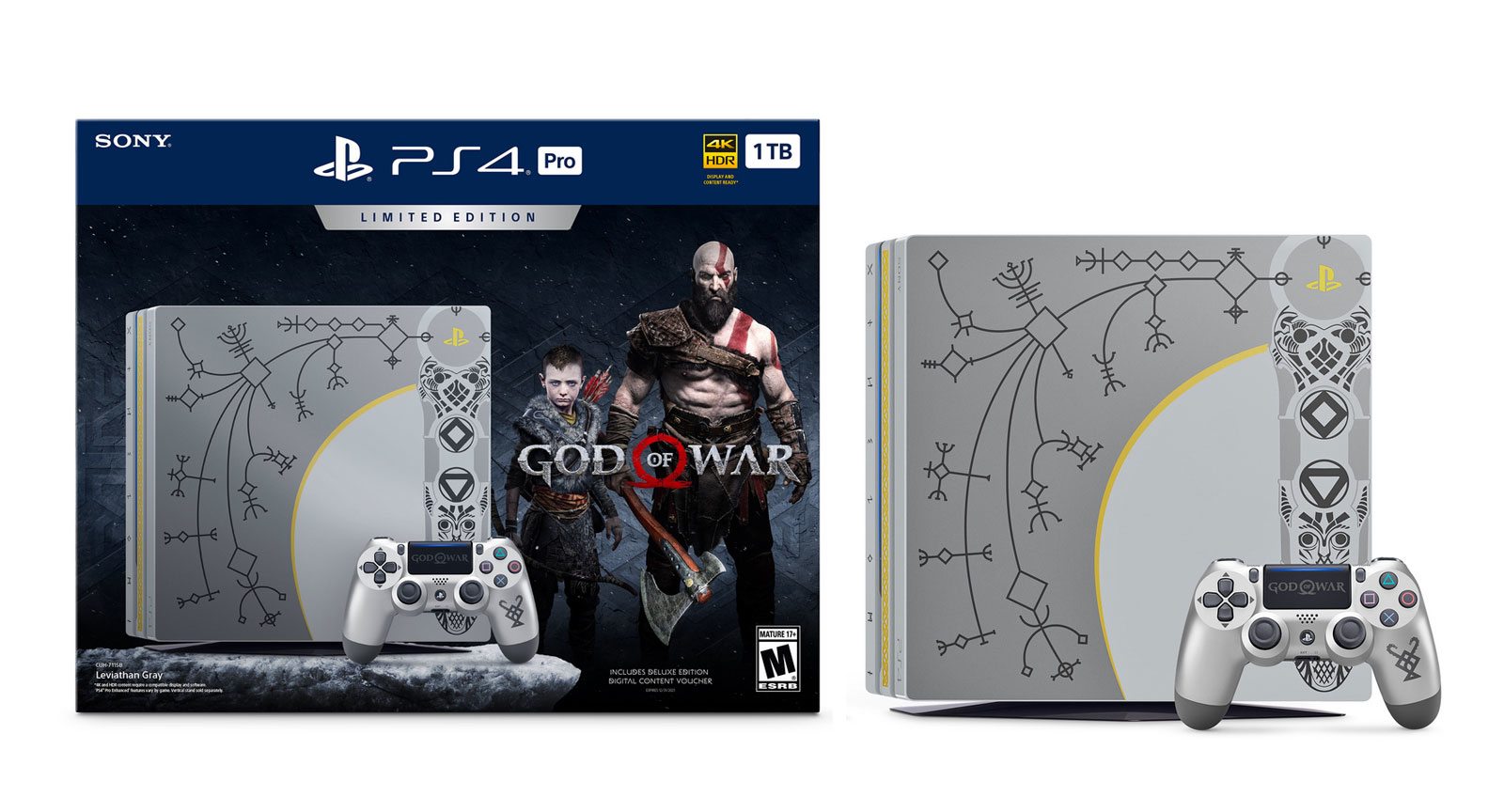 Sony PlayStation 4 Pro 1TB God Of War Limited Edition