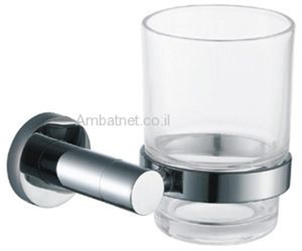 כוס למברשת שיניים דגם A ניקל מוברש
