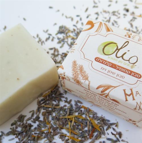 סבון קמומיל - קלנדולה בריח לבנדר
