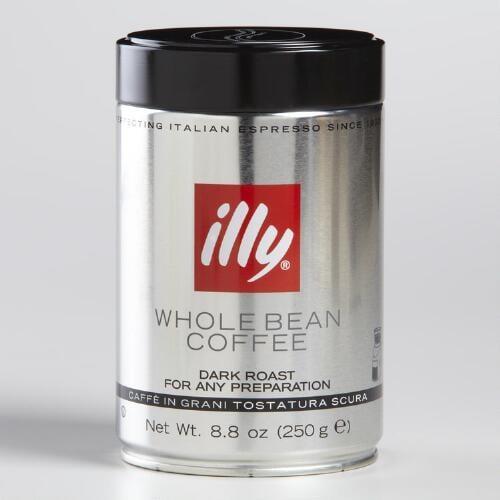 250 גרם פולי קפה אילי ILLY שחור