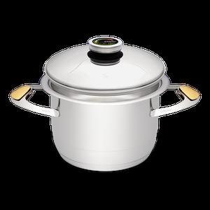 """סיר לבישול בריא בנפח 4.2 ליטר, קוטר 20 ס""""מ"""