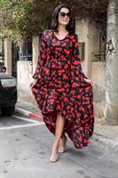 שמלה פרחים שילוב פפלום