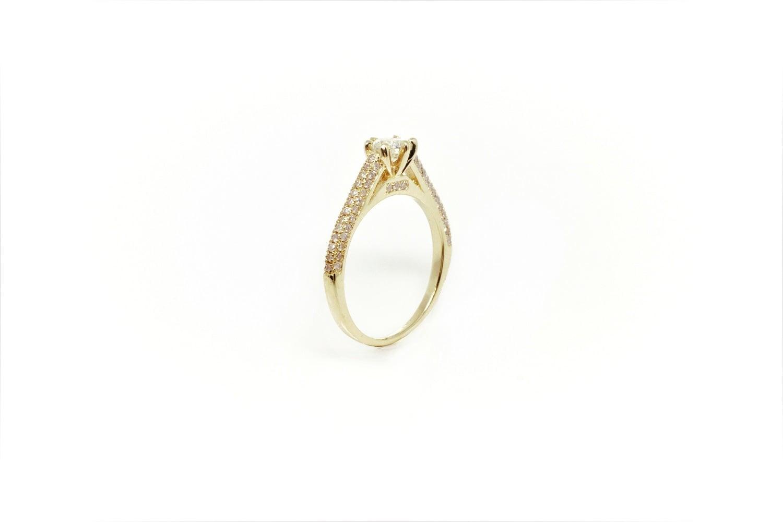 טבעת אירוסין 1 קראט יהלומים טבעת אירוסין מעוצבת טבעת יהלומים לאישה