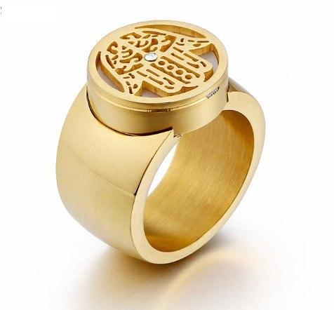 טבעת DOART - חמסה עבה מוזהב