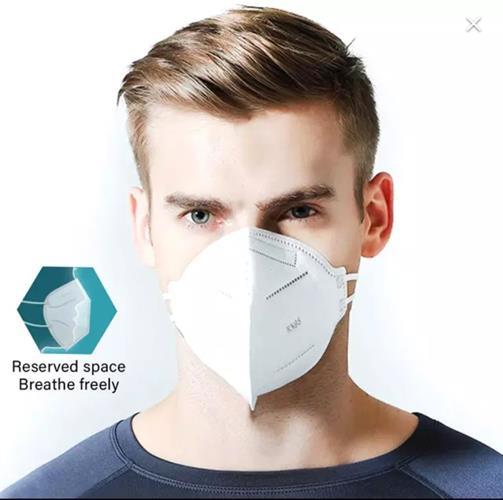 5 מסכות פנים נשמיות הגנה מפני וירוסים ואבק בתקן N95/KN95 בעלת 4 שכבות עם אישורי CE FDA