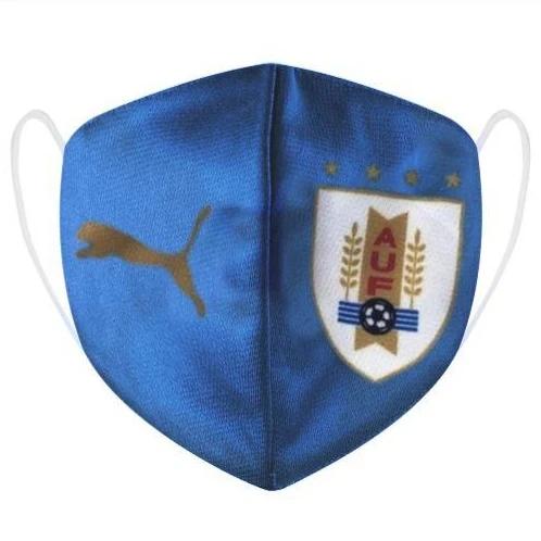 מסכת בד לפנים אורוגוואי כחולה