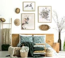 סט קיר גלריה בחדר שינה