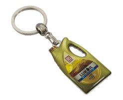 מחזיק מפתחות ממתכת עם מדבקת קריסטל