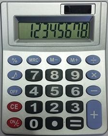 מחשבון שולחני רחב 8 דיגיט