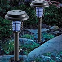 מנורת חשמל סולרית נגד יתושים לחצר -2 יחידות