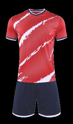 חליפת כדורגל אדום שחור