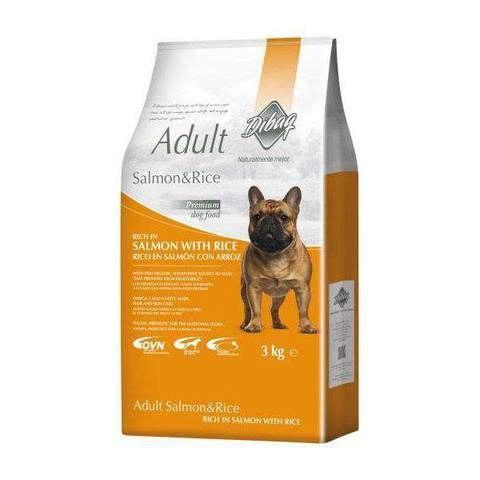אוכל לכלב Dibaq Adult Salmon & Rice  3 קג