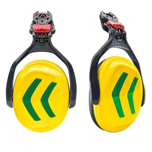 אוזניות לקסדת Protos צהוב זרחני/ירוק