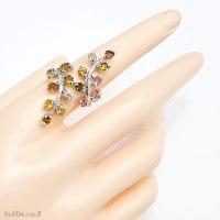 טבעת מכסף משובצת אבני טורמלין RG6324 | תכשיטי כסף 925 | טבעות כסף
