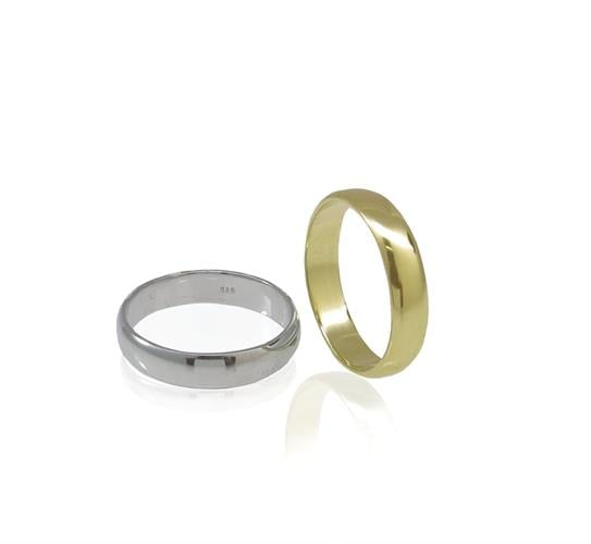 טבעת נישואין לגבר קלאסית בזהב 14 קרט- דגם WR168