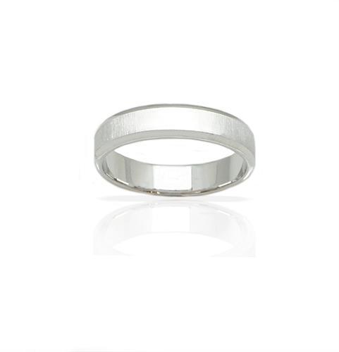 טבעת נישואין קלאסית מאט ומבריק מזהב 14 קאראט- דגם M96