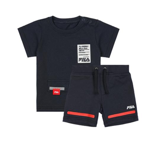 חליפת בנים כחולה FILA בנים - מידות 6 חודשים עד 8 שנים