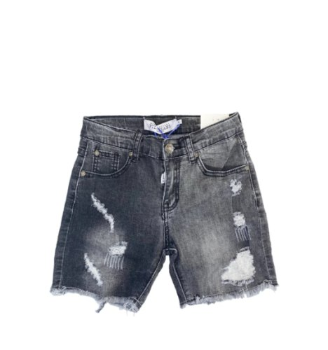 מכנס ג'ינס שחור קרעים בנים FILA