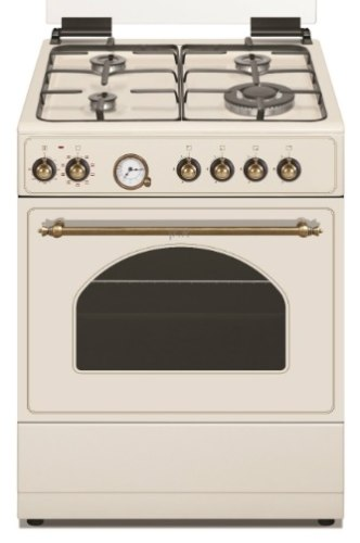 """תנור אפיה 60 ס""""מ לקאזה כפרי משולב כיריים גז LACASA LC6060RB צבע רויאל קרם"""