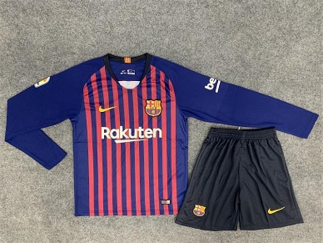 סט משחק חולצה ארוכה ברצלונה   18-19