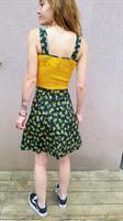 שמלת טבע עם סריגה בצהוב מידה XS