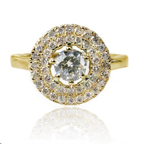 טבעת זהב 14 קרט רויאל פרינסס משובצת יהלומים 1.01 קראט