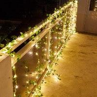 שרשרת LED - עלים מלאכותיים