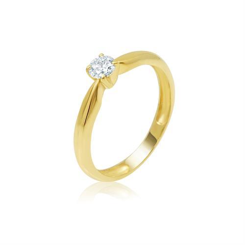 טבעת אירוסין סוליטר 0.20 קראט