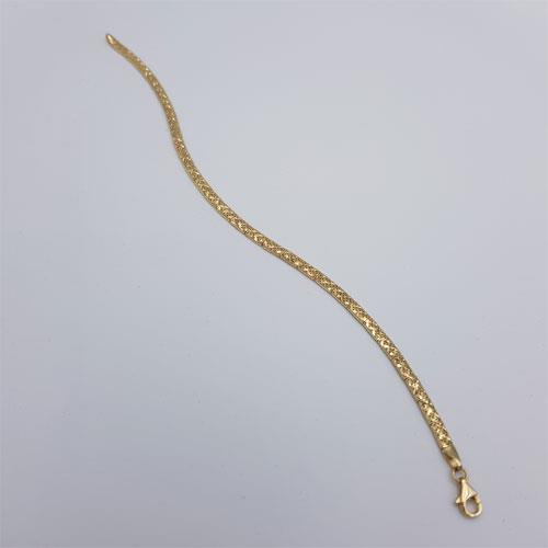 צמיד זהב חריטת יהלום