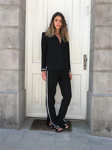 מכנס טומי מחוייט שחור