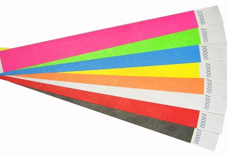 200 צמידי נייר חלקים