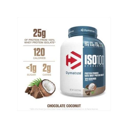 DYMATIZE ISO 100 דיימטייז איזו 100 USA שוקולד קוקוס טעם חדש