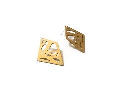 עגילי מעויינים זהב צמודים