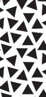 3 יח' טפט דביק מותאם לשידת מגירות HEMNES- משולשים שחור לבן